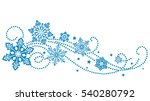 winter new year background with ... | Shutterstock .eps vector #540280792