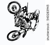 fmx  trick rider  on a white...   Shutterstock .eps vector #540283945