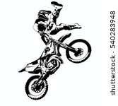 fmx  trick rider  on a white... | Shutterstock .eps vector #540283948