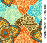 ethnic floral seamless pattern. ... | Shutterstock . vector #540289108