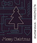 merry christmas holiday... | Shutterstock . vector #540292276