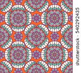 ethnic floral seamless pattern. ... | Shutterstock . vector #540292435