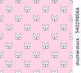french bulldog vector seamless... | Shutterstock .eps vector #540298066