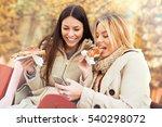 portrait of two young women... | Shutterstock . vector #540298072