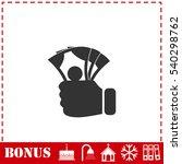 Hand Holding Money Icon Flat....