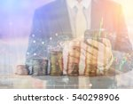 recession  global economy... | Shutterstock . vector #540298906