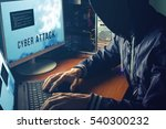 anonymous hacker with no face... | Shutterstock . vector #540300232