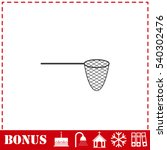 fishing net icon flat. simple... | Shutterstock .eps vector #540302476