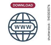 website icon vector flat design ...   Shutterstock .eps vector #540303076