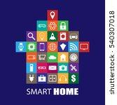 smart home illustration | Shutterstock .eps vector #540307018