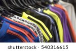 hangers with clothes in the... | Shutterstock . vector #540316615