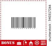barcode icon flat. simple... | Shutterstock .eps vector #540317266