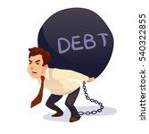 cartoon character  businessman... | Shutterstock .eps vector #540322855