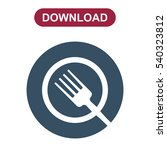 food icon vector flat design... | Shutterstock .eps vector #540323812