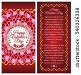 happy valentines day. brochure  ...   Shutterstock .eps vector #540326338