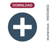 plus icon  the cross  add ... | Shutterstock .eps vector #540333832
