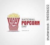 national popcorn day vector...   Shutterstock .eps vector #540336322