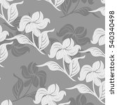 seamless flowers pattern | Shutterstock .eps vector #540340498