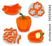 abstract vector illustration... | Shutterstock .eps vector #540343666