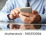 businessman using phone  on... | Shutterstock . vector #540352006