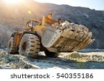 wheel loader machine unloading... | Shutterstock . vector #540355186