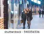 two young beautiful caucasian... | Shutterstock . vector #540356536