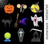 halloween icons set  | Shutterstock .eps vector #540364765