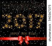 happy new year 2017 text design....   Shutterstock .eps vector #540367375