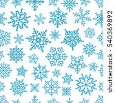 different vector snowflakes... | Shutterstock .eps vector #540369892