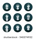 avatar profile icon set... | Shutterstock .eps vector #540374932