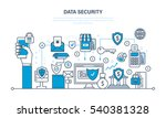 concept   security and data... | Shutterstock .eps vector #540381328