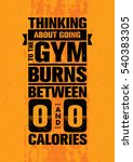 thinking about going to the gym ... | Shutterstock .eps vector #540383305