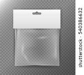transparent plastic bag....   Shutterstock .eps vector #540386632