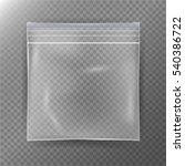 transparent plastic bag.... | Shutterstock .eps vector #540386722