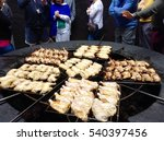 bbq with volcanic heat at... | Shutterstock . vector #540397456