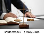 scales of justice on table ... | Shutterstock . vector #540398506
