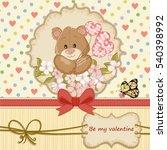 vintage valentines day card... | Shutterstock .eps vector #540398992