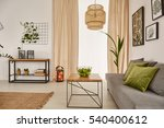 light room with wooden table ... | Shutterstock . vector #540400612