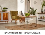 functional flat with wooden... | Shutterstock . vector #540400636