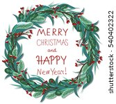 greeting card happy new year... | Shutterstock .eps vector #540402322