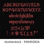 halloween  vampire font | Shutterstock .eps vector #540402826