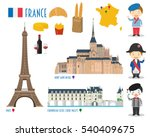 france flat icon set travel and ... | Shutterstock .eps vector #540409675