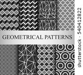8 different classic geometric... | Shutterstock .eps vector #540412822