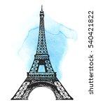 Eiffel Tower In Paris Vector...