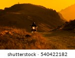 silhouette of the mountain... | Shutterstock . vector #540422182