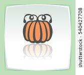 vector outline pumpkin...   Shutterstock .eps vector #540427708