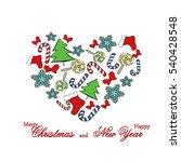 heart of sweets  christmas tree ...   Shutterstock .eps vector #540428548