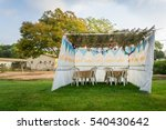 fabric sukkah decorated with... | Shutterstock . vector #540430642