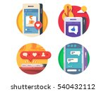 like putting in social networks | Shutterstock .eps vector #540432112