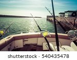 Fishing Trolling Tuna With A...